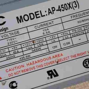 Блок питания GMC AP-450X(3) 400W, б/у